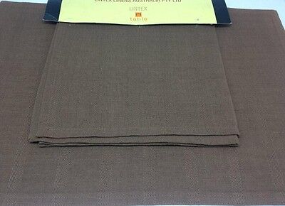 NEW Lintex Herringbone Placemats set of 8 in Iron ,33 x 48cm
