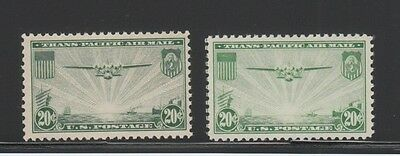 [63640] Scott #C21 USA 20 cent AIR MAIL ISSUE LOT of 2 MINT NEVER HINGED