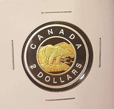 2014 Canada $2 Toonie Silver Gold Proof - Deep Cameo