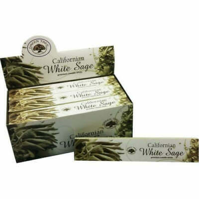 Green Tree California White Sage Incense Sticks - 12 Packets - 144 Sticks