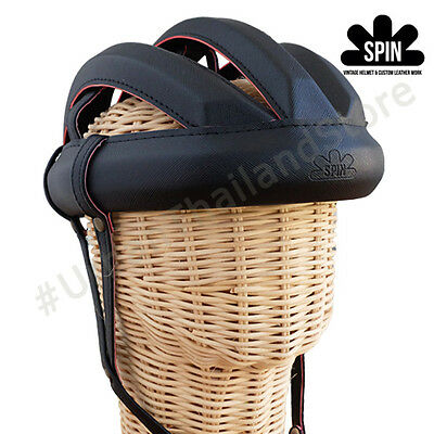 Spin Vintage Cycling Helmet L'eroica Bicycle Outdoor Retro 1980 Classic AllBlack