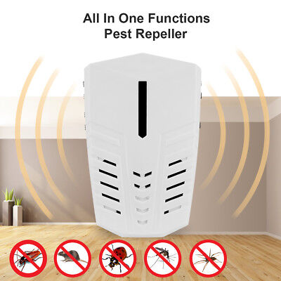 Ultrasonic Repeller Electronic Pest Control Rats Mosquito Insect Mice Repellents