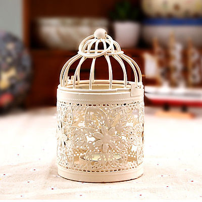 Floarl Hanging Bird Cage Candle Holder Candlestick Lantern Wedding Party Decor