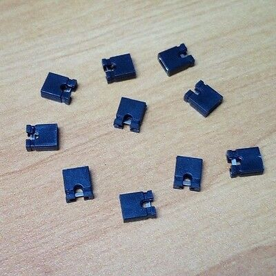 Lot de 10 jumpers cavaliers noir s  - 2.54 mm - Neuf - Arduino - Informatique