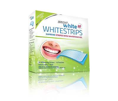 Strisce Sbiancanti Teeth Whitening Strips 28 Bright White PROFESSIONAL Peroxide