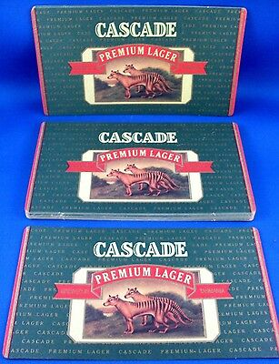 Bulk Lot NEW Vintage CASCADE Premium Lager BEER Collector Coasters Set MAN CAVE