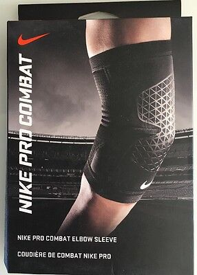 "Nike Adult Unisex Pro Combat Elbow Sleeve S X Large- 12-14"" 30-36 New In Box"