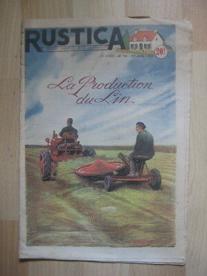 RUSTICA n° 26 / 1954 - LA PRODUCTION DU LIN - CULTURE DE LA TOMATE - PUCERONS