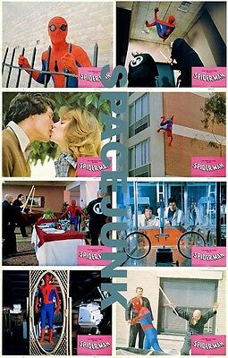 SPIDER-MAN Lobby Cards (1977) Complete Set of 8