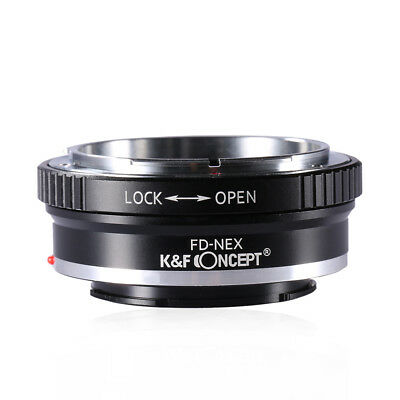 K&F Concept Adapter Canon FD Sony E-Mount Nex C3 Alpha a5000 a560 3N 5N 65 7 37