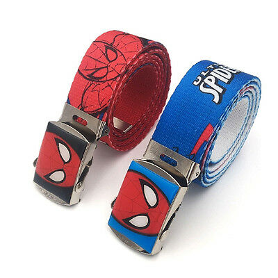 Children Kids New Adjustable Belts Spider-man Buckle Cotton Blend for Boys Grils