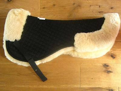John Whitaker Sheepskin Half Pad, Black/Natural, One Size - 30% off CLEARANCE