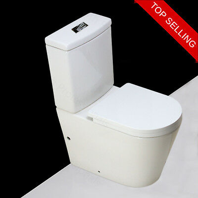 Toilet WC Close Coupled Bathroom Cloakroom Comfort Soft Close Seat Cover T22