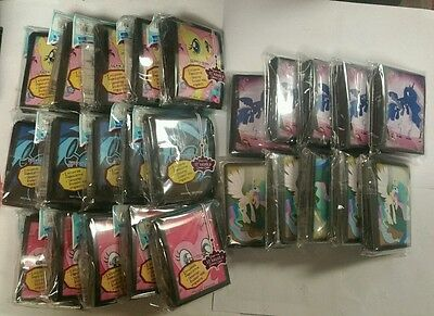 My Little Pony trading card Sleeves 25 packs Sealed  65 card sleeves per  RARE