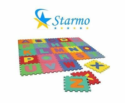 Starmo Children's Kids Soft Eva Foam Alphabet Jigsaw Puzzle PlayMat Interlocking