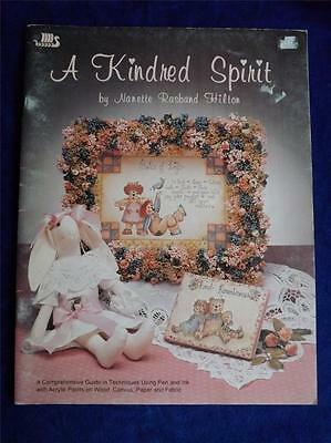 A Kindred Spirit Acrylic Paints On Wood Canvas Paper Fabric Craft Pattern Book