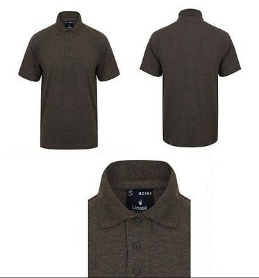 Uneek Classic UC101 Womens/Mens/Unisex Small Polo Shirt Charcoal Grey Workwear S