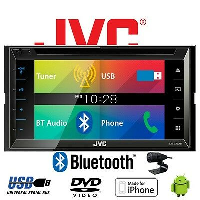 JVC KW-V320BTE - CD DVD Bluetooth MP3 USB 6,8-Zoll Display Autoradio Radio Auto