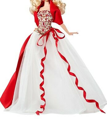 Barbie white red holiday gown dress fits silkstone model muse royalty barbie