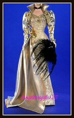 MGM Gold hollywood gown dress fits model muse silkstone Barbie