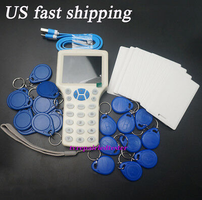 English 10 Frequency NFC Smart IC ID Card RFID Copier Reader Duplicator Hot