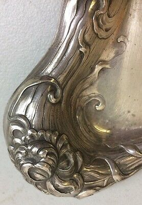 Art Nouveau Sterling Silver Plate Amazing Flower
