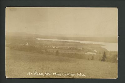Maine ME real photo postcard RPPC Weld from Center Hill