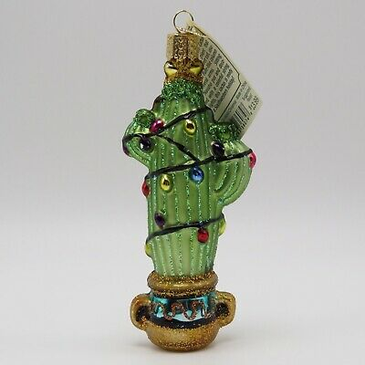 Christmas Saguaro Cactus Merck Old World Christmas Ornament 36074