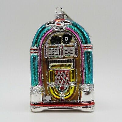 Jukebox Rock n Roll Merck Old World Christmas Ornament 38046