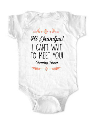 Hi Grandpa! I can't wait to meet you Coming Soon surprise baby birth pregnancy