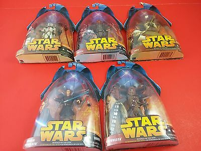 Bundle of 5 Star Wars Figurines ROTS Revenge of the Sith - Anakin Yoda Chewbacca