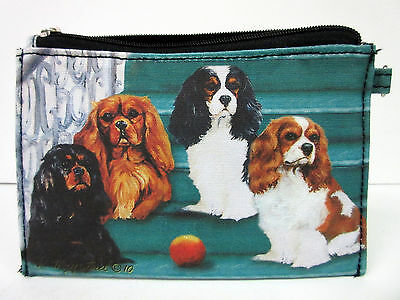 New Cavalier King Charles Springer Dog Zippered Handy Pouch Make-up/Coin Purse