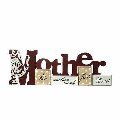 new wooden free standing sign mother is another word for love ideal