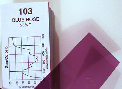 GAM  #103 Blue Rose  gel color media filter sheet