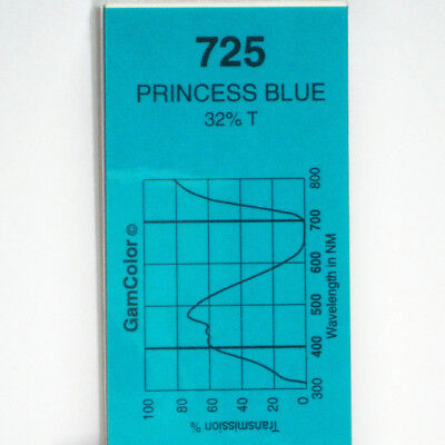 GAM  #725 Princess Blue gel color media filter sheet