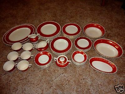 Midas China 55 Dishes 7 Place Dinnerware Tea Cups Plates Bowls Service dish set