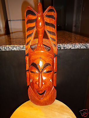 vintage Unique Tribal Face Mask of African Art Wall Sculpture Collectibles