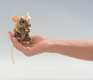 Field Mouse Finger Puppet by Folkmanis - 2652FM