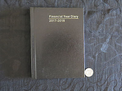Diary Financial Year OLDER 2017/18 (not 18/19) A6 Pocket WTV Black Hardcover