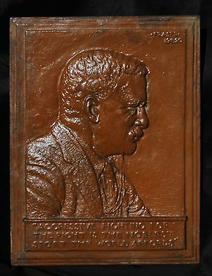 Bas-Relief Plaque of President Theodore Roosevelt by James Earle Fraser