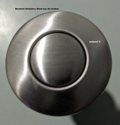 Air Switch button, Stainless top,Domestic Spa/Waste disposal, EASY FIT, Cheap