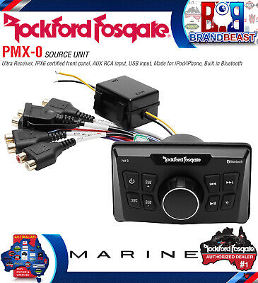 Rockford Fosgate Pmx0 Ultra Compact Bluetooth Marine Boat Digital Media Receiver