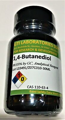 1,4-Butanediol, 99.85% by GC, Analytical Reagent, 30ml (Important message below)