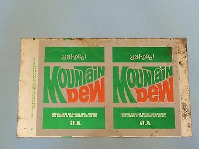 12oz Mountain Dew Unrolled Can