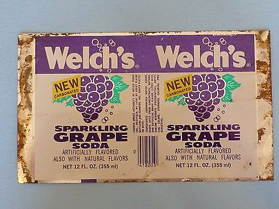 12oz Welch's Sparkling Grape Soda Unrolled Can