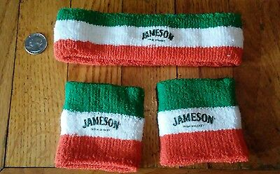 Jameson Irish Whiskey Headband & Wristbands, set of 3