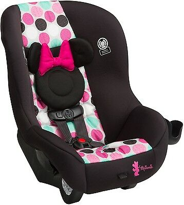 New Minnie Mouse Dots Luxe Dual Facing 5 Point Harness Convertible Car Seat