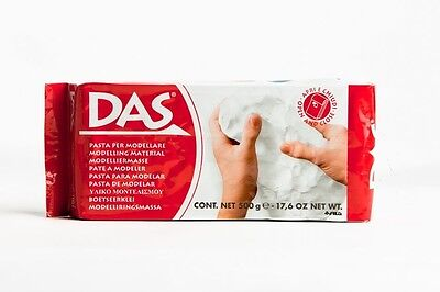 Das WHITE 500g Modelling Clay - Air Drying - Baby hand Foot Keepsake