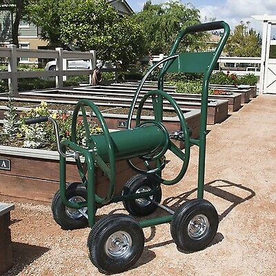 Water Hose Reel Cart 300 FT Outdoor Garden Heavy Duty Yard Water Planting | NEW