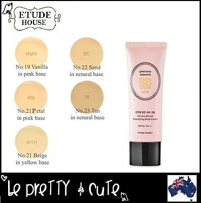 【ETUDE HOUSE】Precious Mineral Beautifying Block BB Cream MOIST SPF50+ PA+++